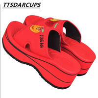 summer Foam   slippers   Girls with light indoor home thick bottom skidproof outer wear lightweight sandals and   slippers   in autumn