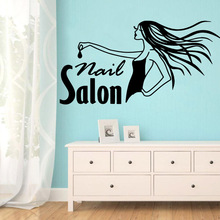 Creative nail salon Waterproof Mural Wall Stickers Art Decor For Childrens Room Background Decal