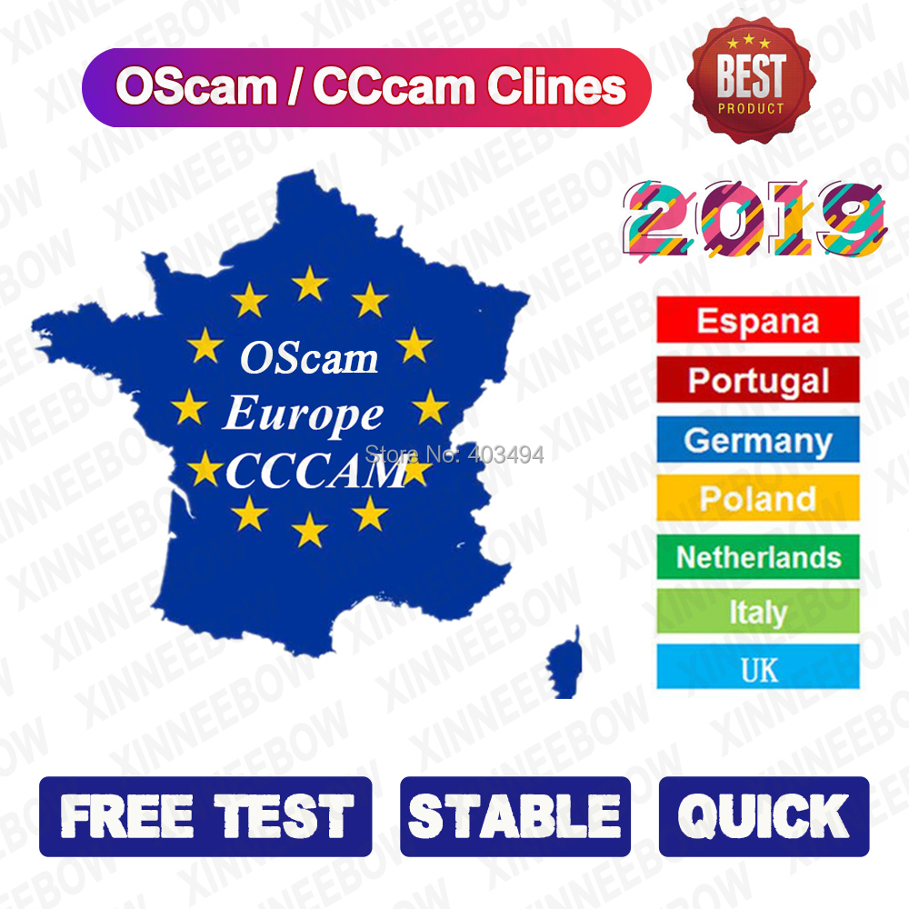 New Stable CCcam Cline Server OScam German CCcam Portugal 1 Year For Europe DVB-S2 HD Satellite TV Receiver GTmedia V8 Nova