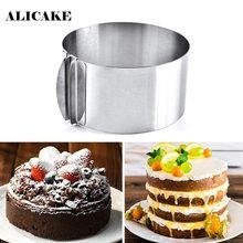 Moule à gâteau à Mousse réglable en acier inoxydable, 16.2x16.2x8.8Cm, ustensiles de cuisson, outils de pâtisserie, anneau Taart standard