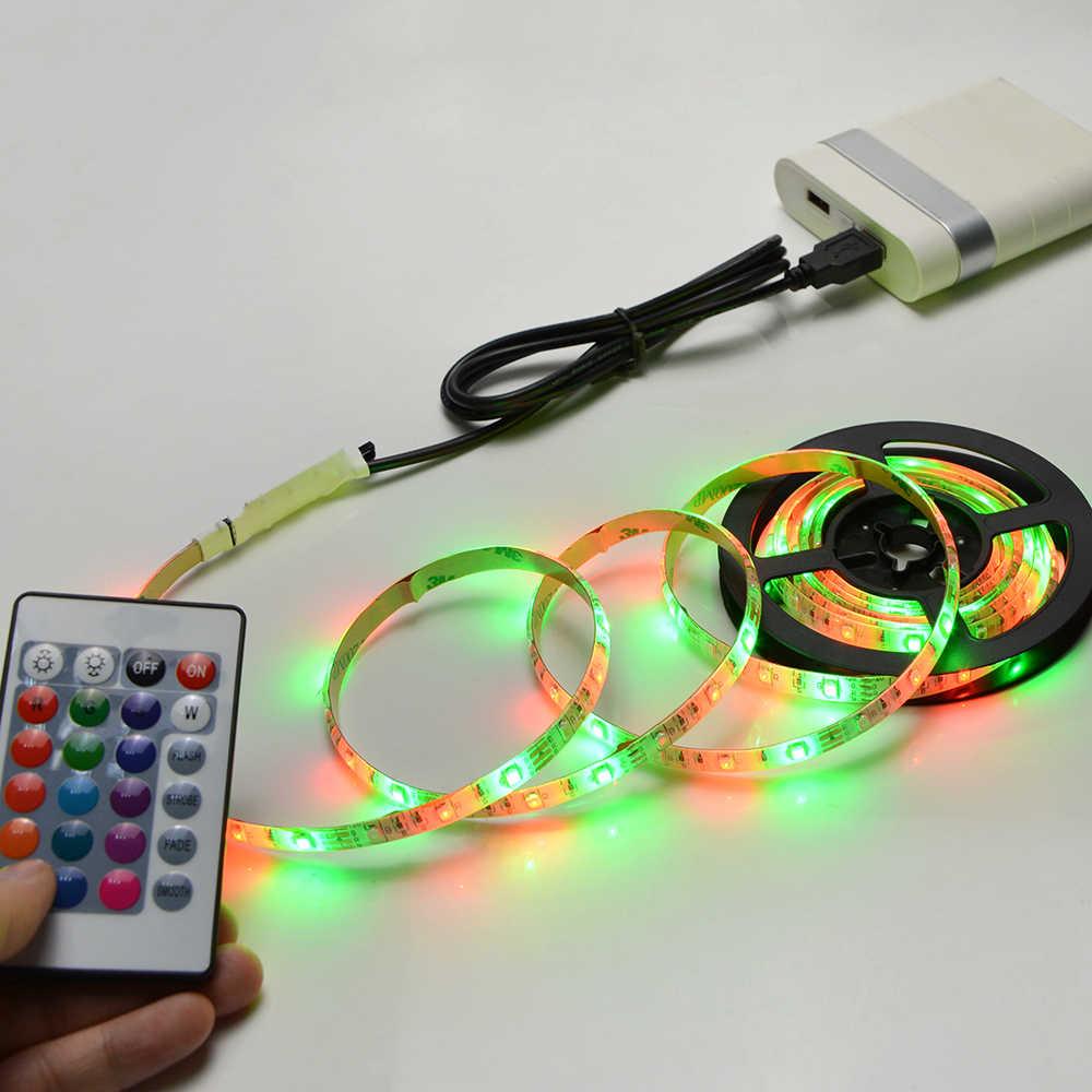 USB мощность светодиодный RGB лампа 1 м 2 м 3M 4M 5 м светодиодная подсветка под шкаф Гибкая струна для шкафа HD ТВ Настольный ПК фоновый Декор