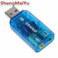 100 шт./лот 3D Аудио USB внешний USB адаптер Звуковая карта 5.1 Звук профессиональный микрофон 3.5 мм Интерфейс де аудио