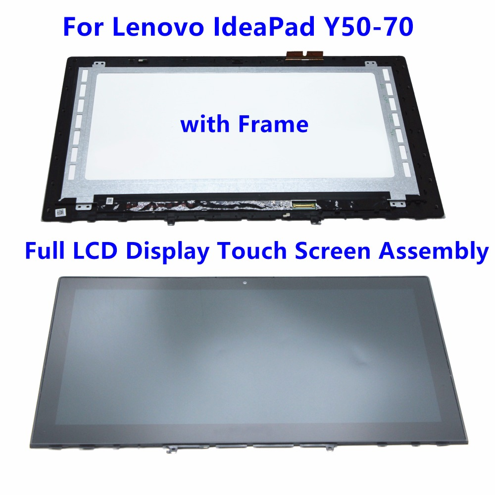 New 15.6 Full LCD Screen Touch Panel Digitizer Assembly with Frame For Lenovo IdeaPad Y50 Y50-70 20378 AM14R000300 B156HTN03.6 lcd for iphone 5s free ship with touch screen full set assembly with home button