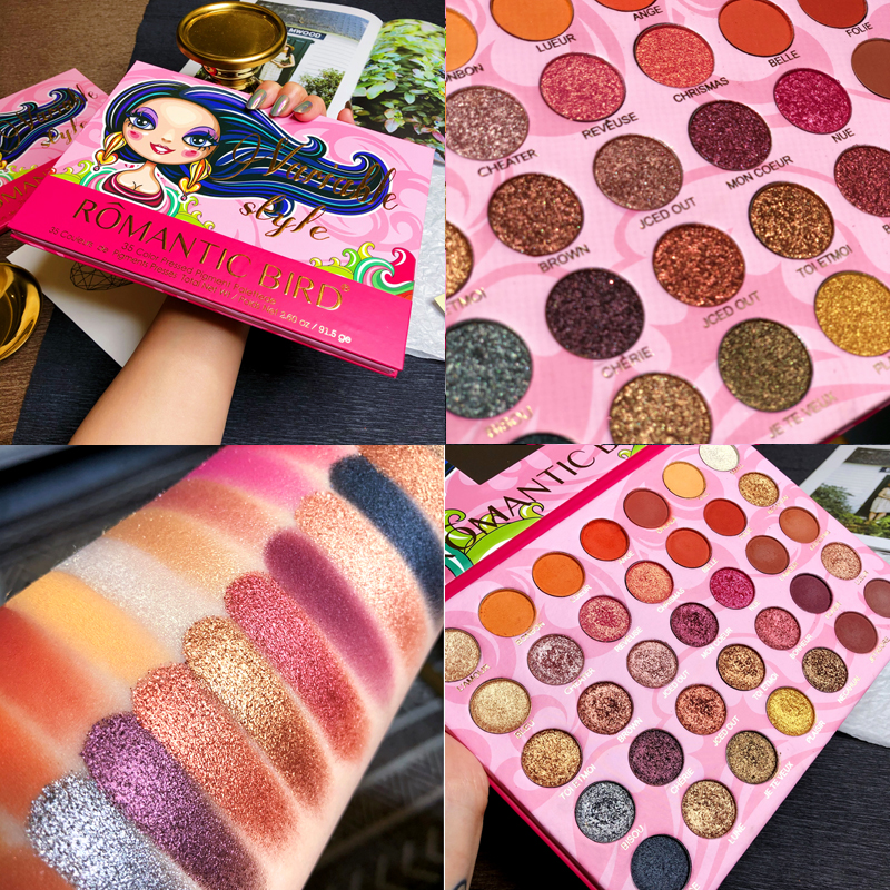 35 Colors Eyeshadow Makeup Palette Matte Pigments Glitter Shimmer Pallete