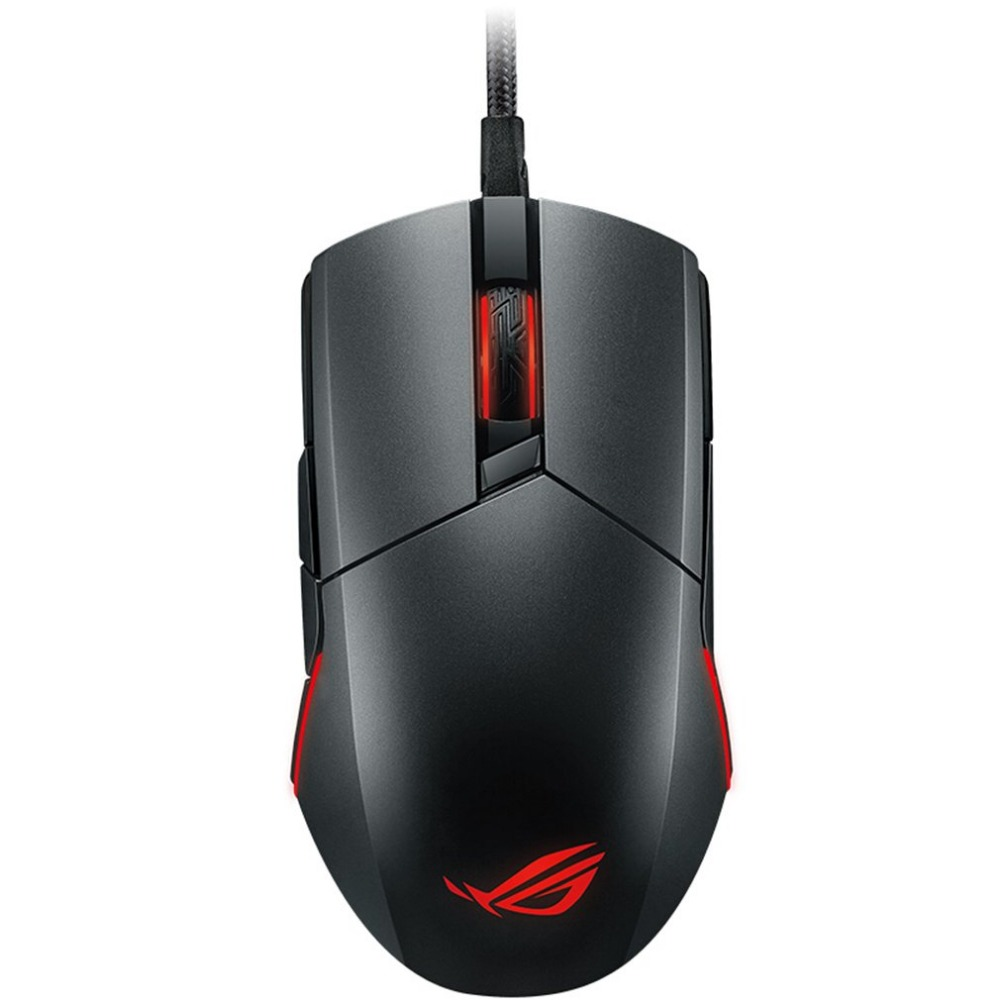 ASUS ROG Pugio  USB Wired Optical Mouse Gamer Computer  Gaming  Mice  For PC Laptop Notebook with RGB LED Lighting gaming usb wired mouse zelotes c 12 programmable buttons led optical usb gaming mouse mice 4000 dpi souris sans fil