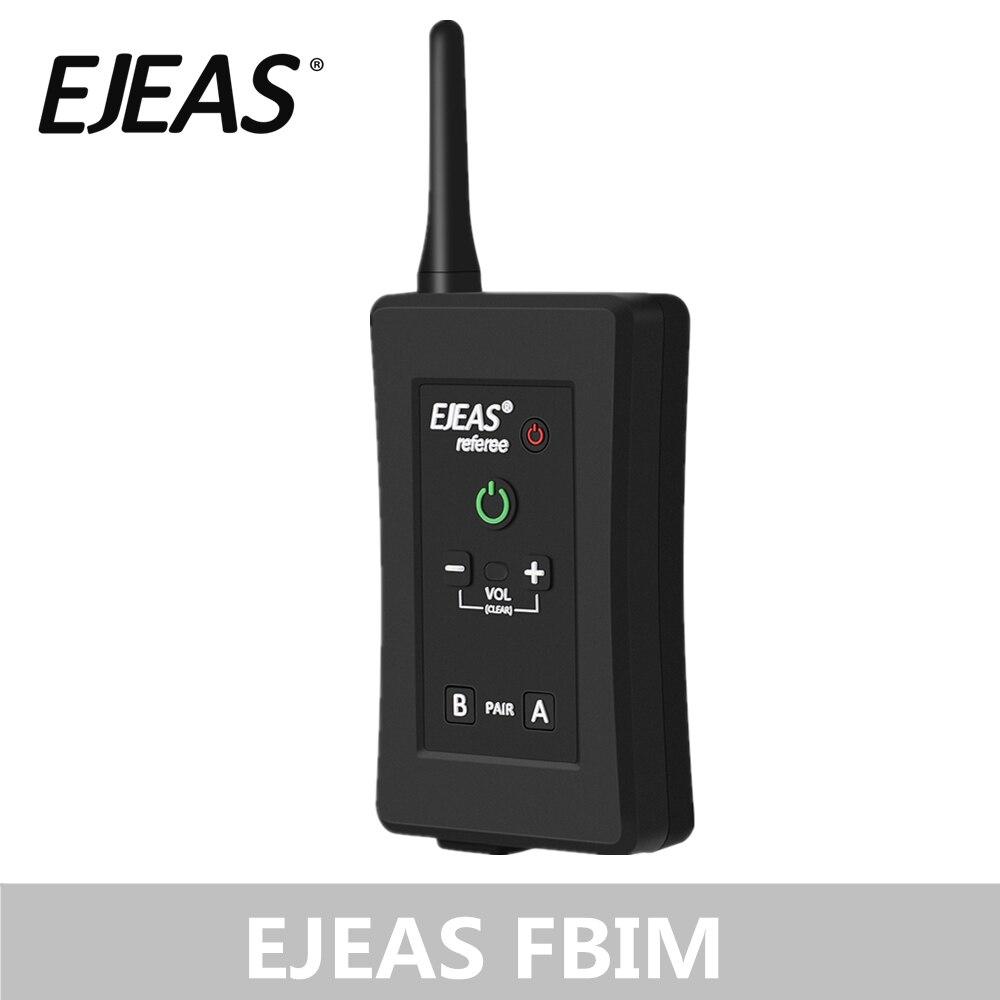 EJEAS FBIM casque d'arbitre Bluetooth à quatre voies avec étui de brassard 1.2Km talkie-walkie étanche pour les entraîneurs de Football