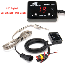 Мини светодиодный цифровой дисплей Автомобильная температура выхлопа датчик с датчиком DC12V пластик+ металл температура выхлопа erature газ EGT EXT датчик температуры