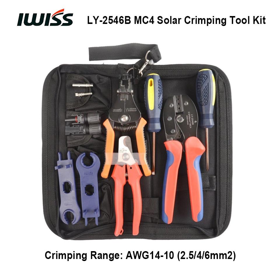 IWISS LY 2546B MC4 Solar Crimping Crimper Plier Tool Kit Crimp 2 5 4 6mm2 range