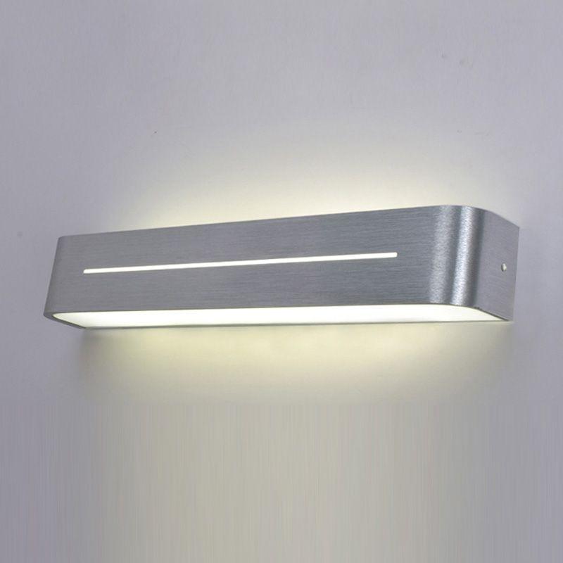 moderne eenvoudige aluminium acryl buis badkamer wandlamp spiegel