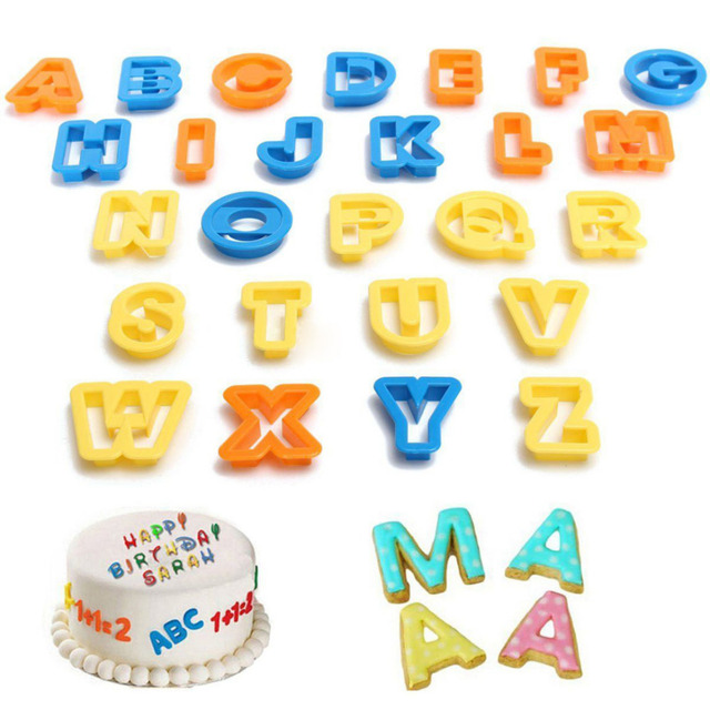 Alphabet Letter Number Mold Biscuit DIY Cookie Cutter Birthday Cake Fondant Decoration 3 Styles