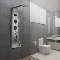 Светодиодный душ с цифровым дисплеем панель колонка с ABS ручной Душ Дождь Водопад Душ Ванна Душ экран ванная комната поставщиков HWC