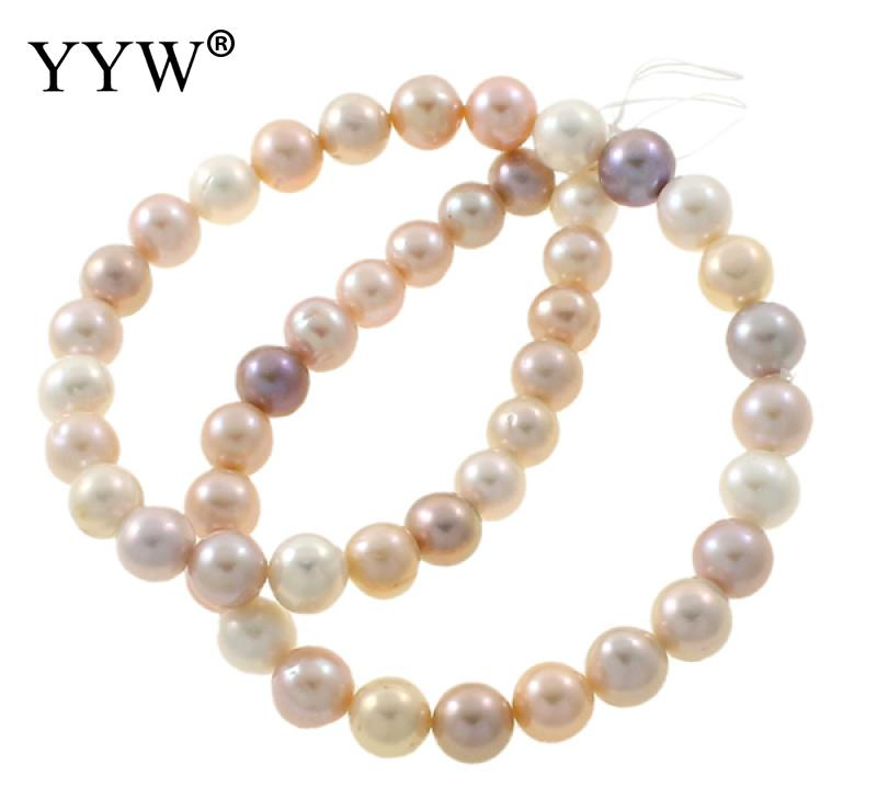 Grade AA 9-10mm 100% Natural Freshwater Pearl Beads multi color Pearl Round Loose Beads For DIY Necklace Bracelat Jewelry Making недорго, оригинальная цена