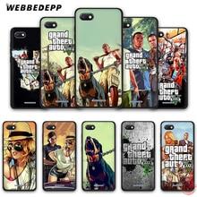 WEBBEDEPP Grand Theft Auto GTA V мягкий чехол для телефона для Redmi Note 8 7 6 5 Pro 4A 5A 6A 4X5 Plus S2 Go чехол s