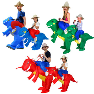 Image 3 - Adulti O Bambini Gonfiabile Ride On Walking Dinosauro Animale Cosplay Costume Di Natale Ringraziamento Per Wome Bambini Fancy Dress