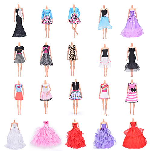 Multi Layers Summer Handmade Doll Princess Dress Clothing Floor Length White Party Wedding Dress For Accessories
