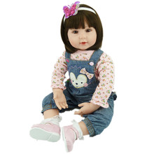 55cm Lifelike Dolls Vinyl Reborn Baby Simulation Doll Toys Christmas Birthday Gift Girl Juguetes Play House Cute Newbabies