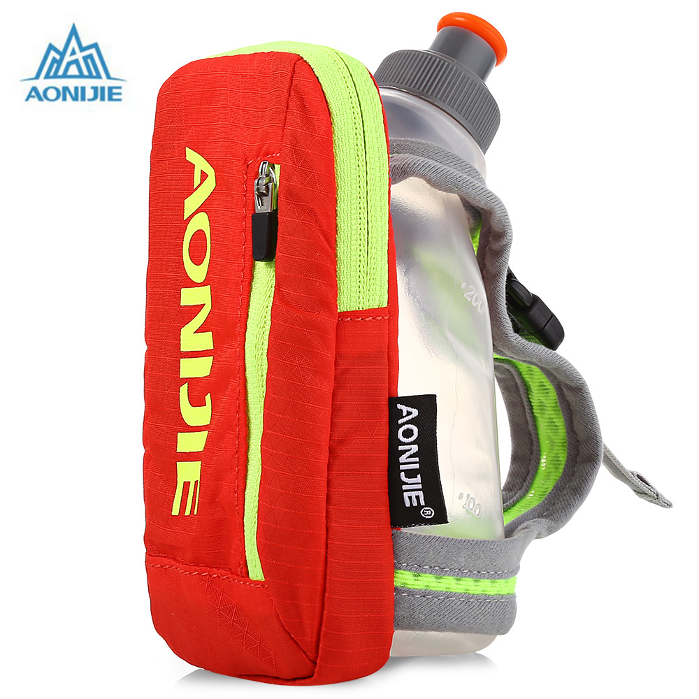 AONIJIE Handheld Water Bottle Hydration Pack 250ML Outdoor Running Bag Hiking Cycling Running Kettle Hand Bag For 4.7 Inch Phon
