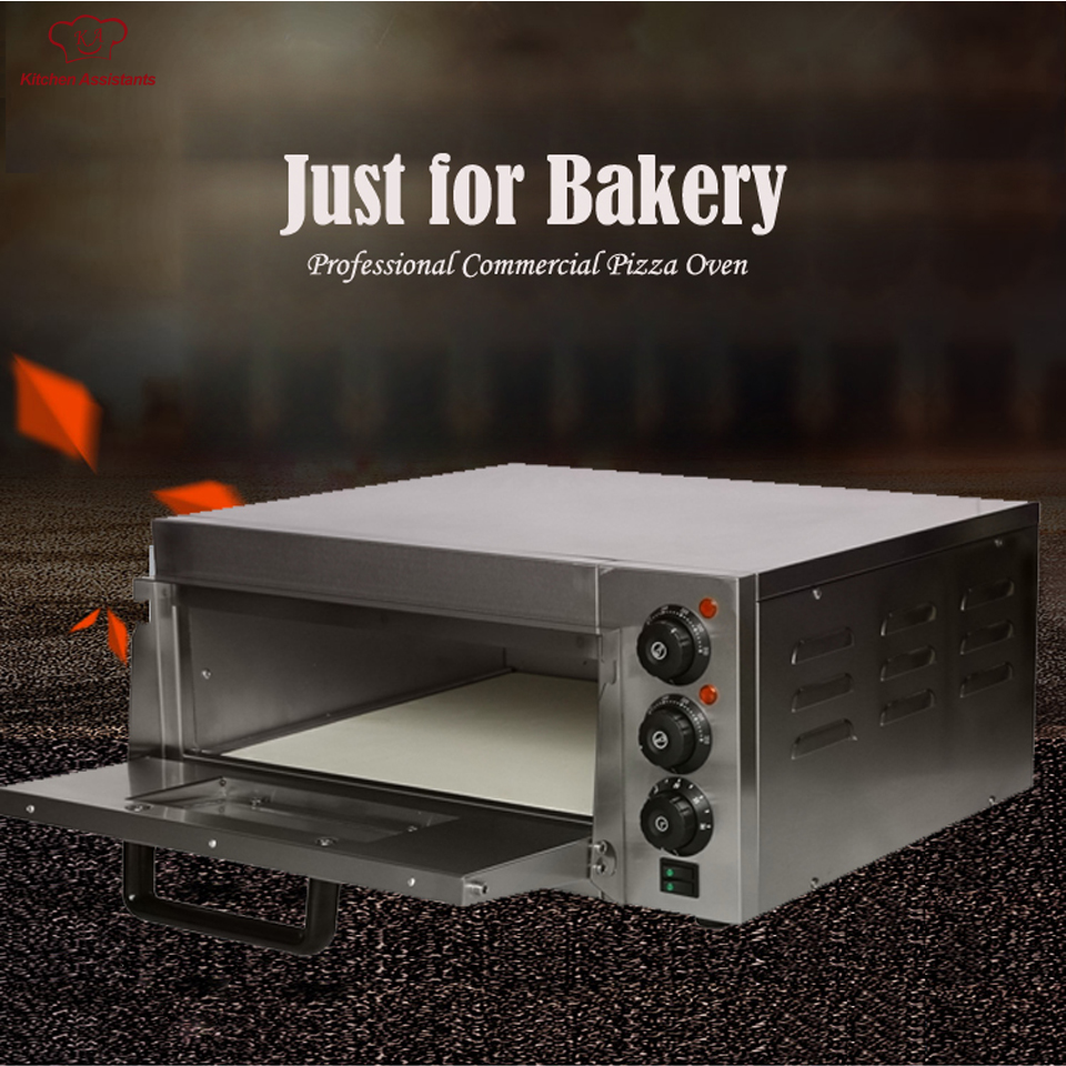 EP1ST Hot sale Electric Pizza Baking Bakery Oven with timer for commercial use for making bread, cake, pizza 3000w stainless steel commercial electric pizza oven with timer 2 layer making bread pizza cake baking oven