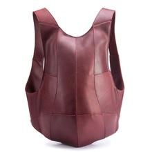 Genuine Leather Mens Backpack Business Messenger Male Shoulder Casual Tote Men Bagpack Large Travel Bag Mini Hand Neweekend