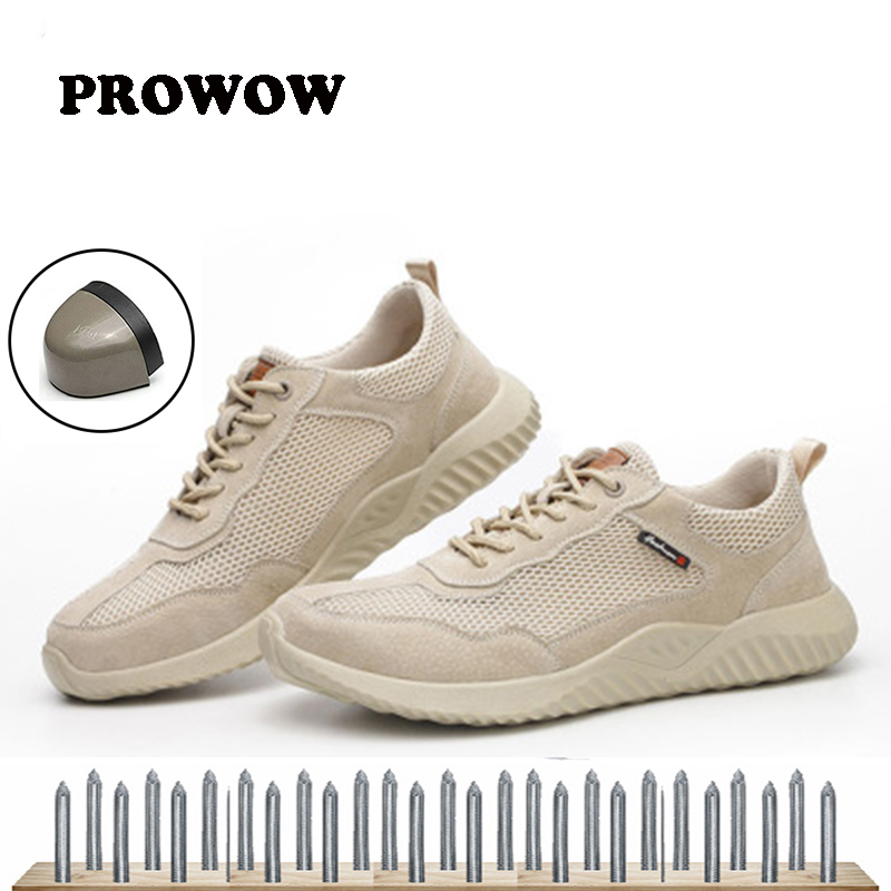 2019 New Brand Summer Lightweight Steel Toecap Men Women Work & Safety Boots Breathable Male Female Casual Shoes Plus Size 37-45