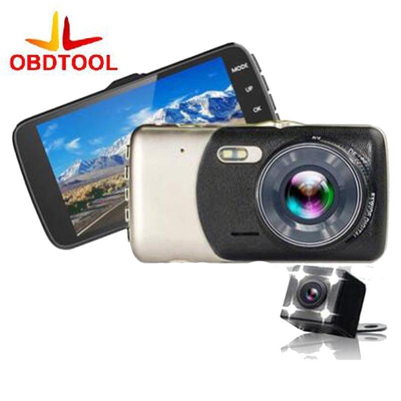 4 0 Inch MINI Car Dvr 1080p Dash Cam High definition Video Recorder Mirror Dual font