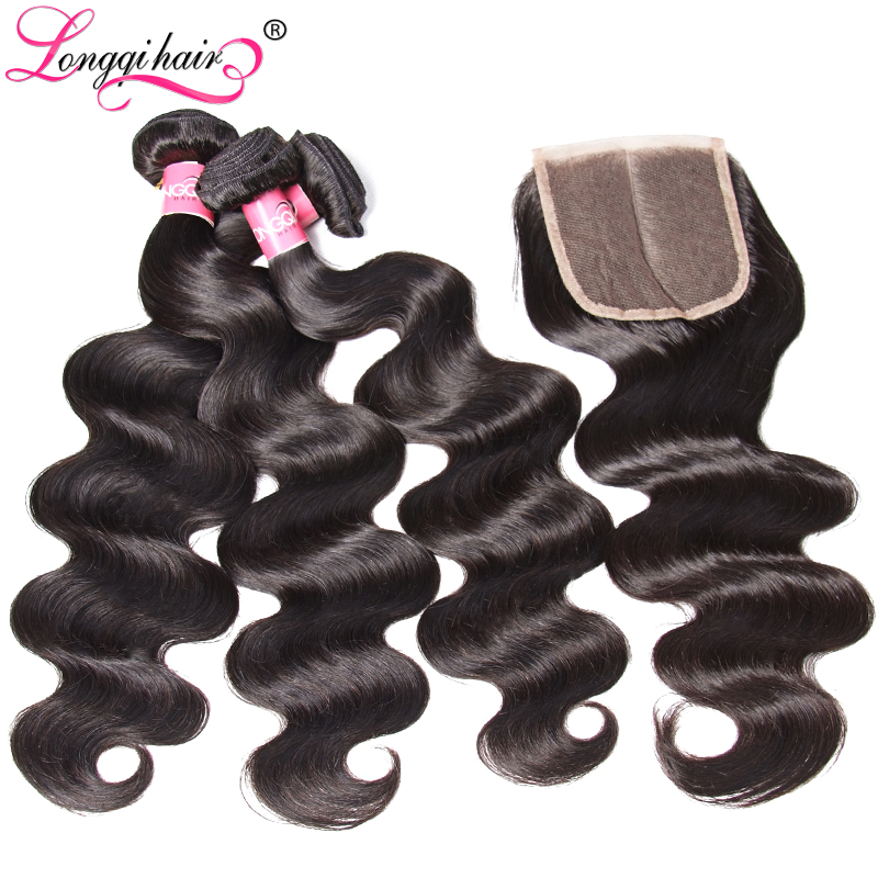 Image 5 - Longqi Body Wave Bundles with Closure Malaysian Hair 3 Bundles with Closure Remy Human Hair Bundles with Closure 4PCS Lot-in 3/4 Bundles with Closure from Hair Extensions & Wigs
