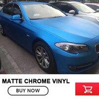 Color Aluminum Blue Matte Chrome Car Wrap Vinyl Foile Film For Car Wrapping Matte Chrome Blue