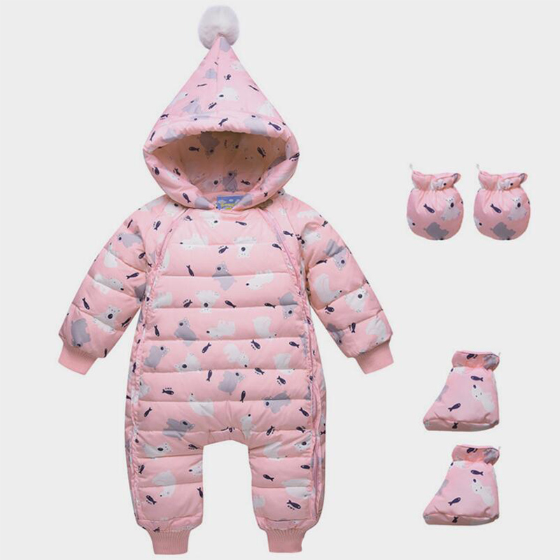 BibiCola 2018 baby girls clothing winter boys rompers infant bebe girls thermal clothes newborn baby hooded rompers toddler bibicola baby rompers new winter infant bebe girls boys warm rompers jumpsuit clothes newborn baby long sleeve hooded rompers