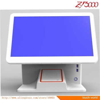 new stock I5 4G 64G SSD 15.6 inch double  touch screen pos system have 58 mm printer inside