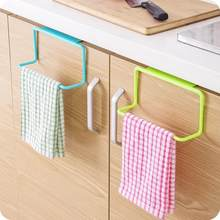 Kitchen Organizer Towel Rack Hanging Holder Bathroom Cabinet Cupboard Hanger Shelf For Kitchen Supplies Accessories(China)