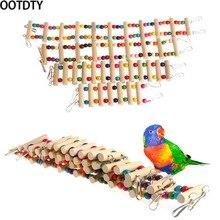 OOTDTY птицы качели деревянный мост лестница подъем Cockatiel попугай волнистый попугай игрушка для домашних животных