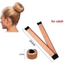 M MISM 15cm/21cm/24.5cm Ball Bend Magic Bun Wig Flexible French Chignon Hair Bands Making Style Hair Accessories for Women Kids