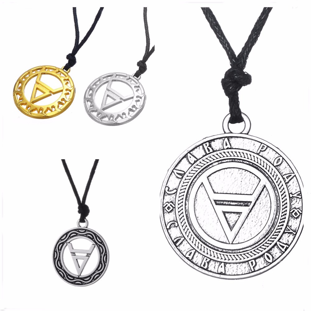 Dawapara symbol of god veles in the circle double layer necklace dawapara symbol of god veles in the circle double layer necklace slavic pendant rope chain ethnic jewellery in pendants from jewelry accessories on aloadofball Image collections