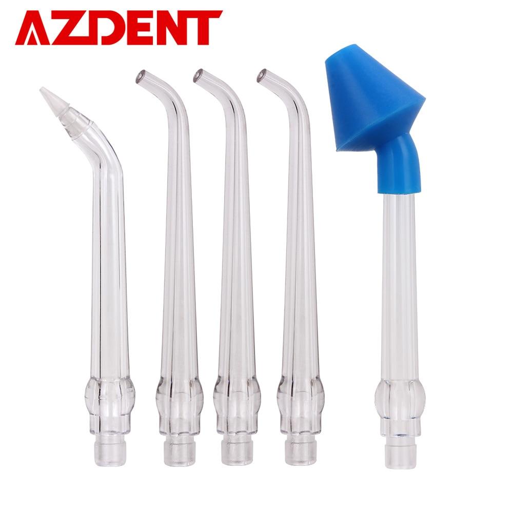 5Pcs/Lot Nozzles Tips For AZDENT AZ-007 Gen 1 Oral Irrigator Water Dental Flosser Nasal Wash Periodontal Bag Irrigation Floss