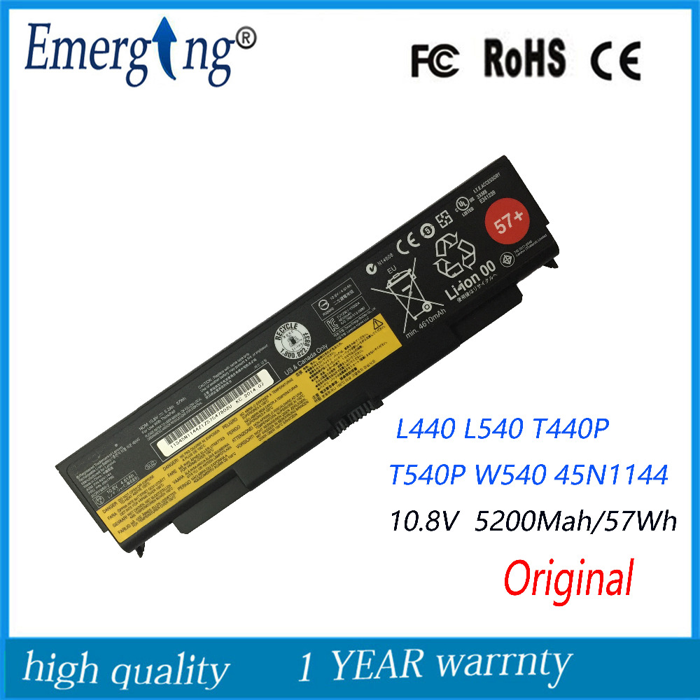 10.8V 57WH Original New Laptop Battery for Lenovo ThinkPad T440P T540P W540 45N1144 45N1145 45N1148 45N1149 L440 new original for lenovo thinkpad l440 usb audio subcard board 04x4821 0c54883 55 4lg02 021g