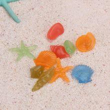 10 шт. светящиеся Ложные камни искусственная Морская раковина звезда форма синтетический орнамент декоративный аквариум Морская ракушка раковины Водолей