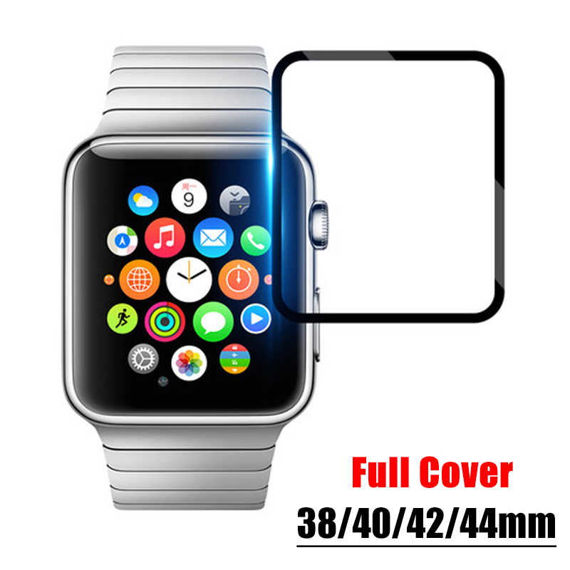 3D Full Protective Film for Apple Iwatch Screen Protector Bands 38mm 40mm 42mm 44mm Soft Film I Watch 4 3 2 1 Not Tempered Glass