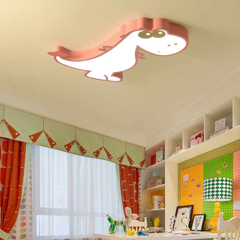 Image 3 - Cartoon Bedroom Kids Room Lights Ceiling For Girl Boy Animal Dinosaur Child Princess Baby Childrens Room Ceiling Lamp Lighting-in Ceiling Lights from Lights & Lighting