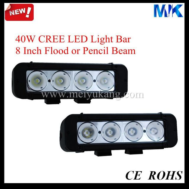 "New 2014 FREE Shipping Flood & Spot & Combo Beam 8"" 40W CREE 3440LM Aluminum Housing PC Lens IP68 Led Light Bar Cree 40W MK-951"