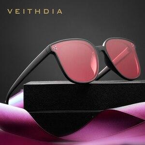 Image 3 - Veithdia Brand Fashion Zonnebril Gepolariseerde Meekleurende Lens Vintage UV400 Zonnebril Voor Mannen/Vrouwen Oculos De Sol V8510