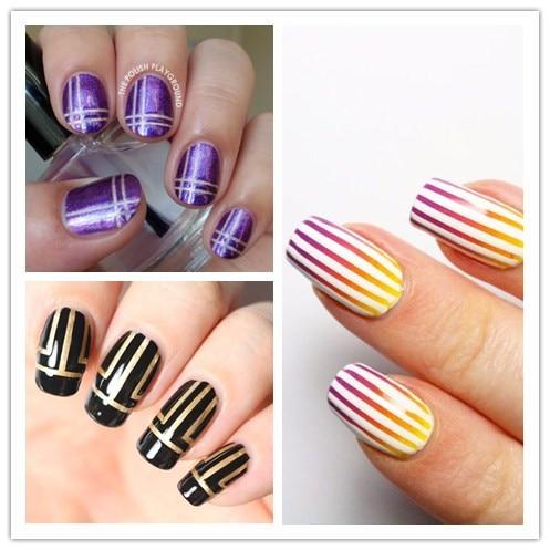 Nail Art Striping Tape Design Lines Set To Bend Light