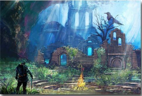 Pintura De La Lona Arte Dark Souls 1 2 3 Cartel Juego