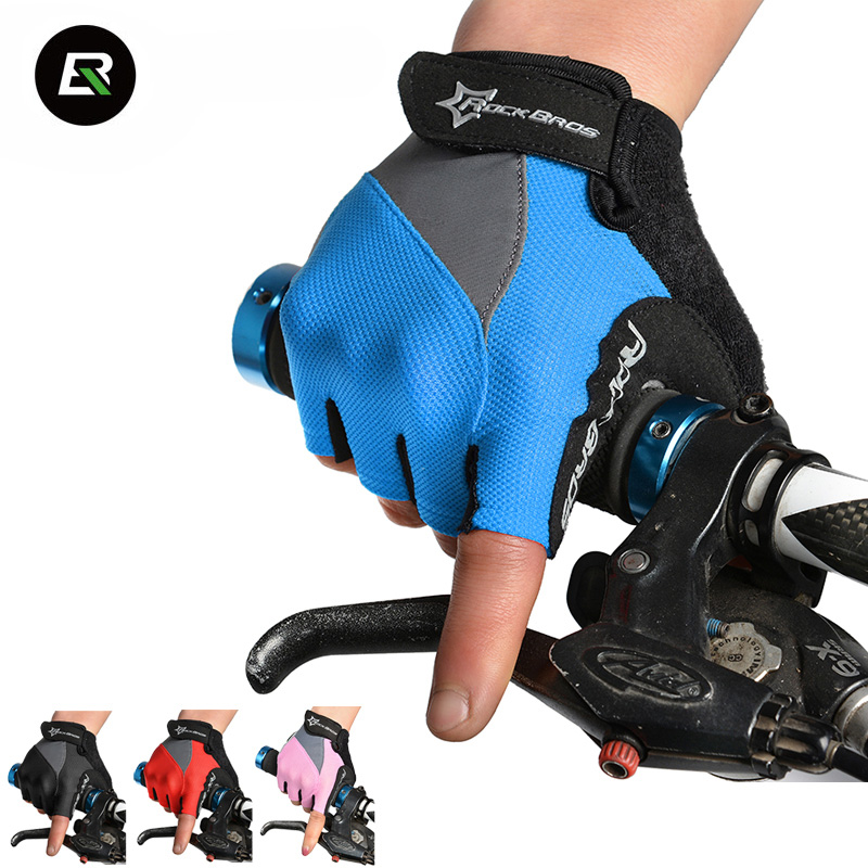 RockBros Half Finger Cycling Gloves GEL Pad Shockproof Breathable Mountain Road Bike Gloves Bicycle Gloves Guantes Ciclismo i kua fly mtb cycling gloves half finger bike gloves shockproof breathable mountain sports bicycle gloves men guantes ciclismo 4
