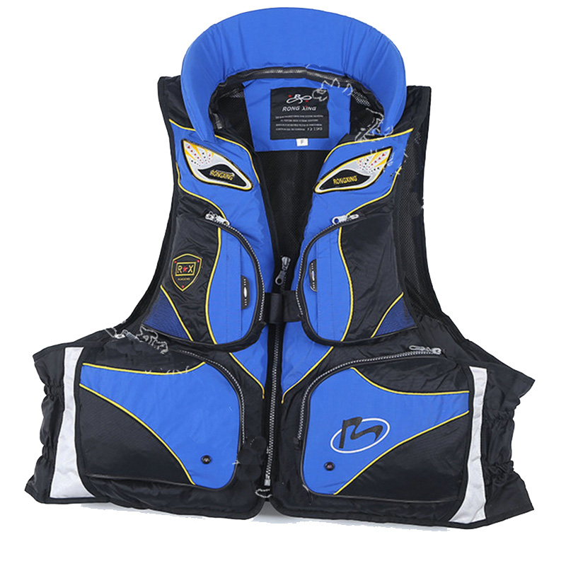 Gilet de sauvetage de pêche de roche gilet de sauvetage professionnel pour la dérive de la navigation de plaisance survie de pêche veste Ajustable costume de survie de Sport nautique