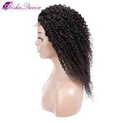Парики из натуральных волос Aisha queen 4*4, кудрявые парики из малазийских кружевных фронтов, парики из натуральных волос, предварительно