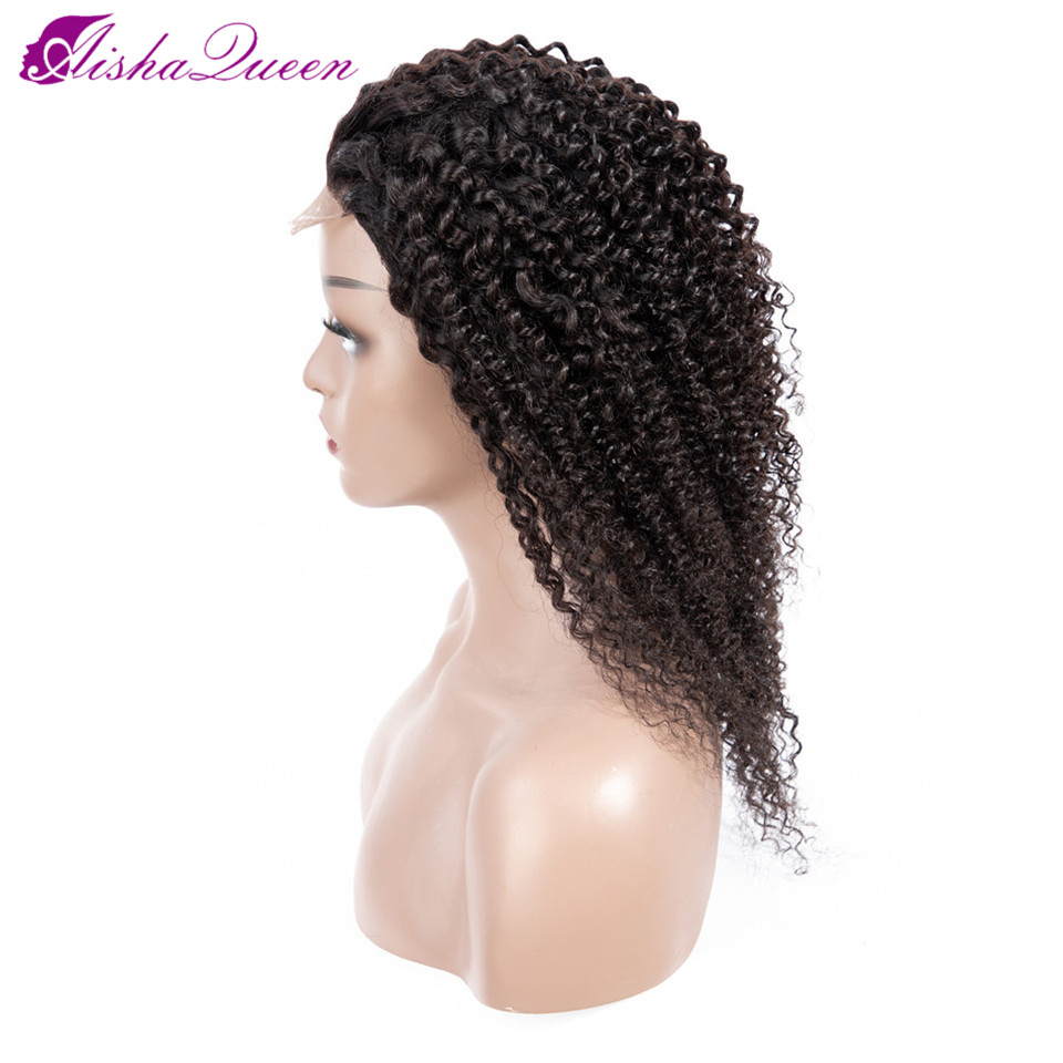 Aisha Queen 4*4 Human Hair Wigs Kinky Curly Wig Malaysian Lace Frontal Human Hair Wigs Pre Plucked Non Remy Hair Lace Front Wigs