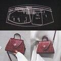 1 Набор DIY акриловый кожаный шаблон для дома ручная работа кожевенное ремесло шитье шаблон инструменты аксессуар сумка на плечо 200x150x70мм