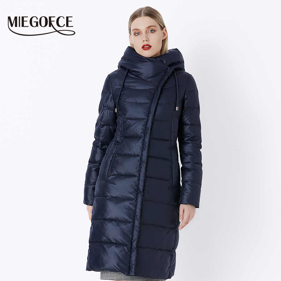 MIEGOFCE 2019 Jas Winter vrouwen Hooded Warme Parka Bio Pluis Parka Jas Hight Kwaliteit Vrouwelijke Nieuwe Winter Collectie hot