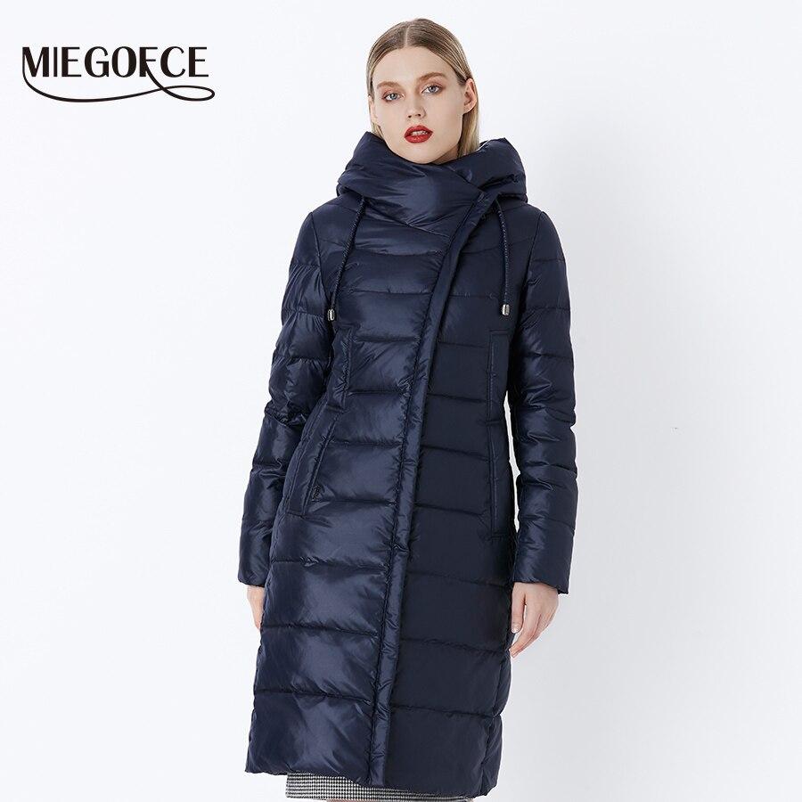 Miegofce 2019 casaco de inverno das mulheres com capuz quente parkas bio fluff parka casaco alta qualidade feminino nova coleção inverno quente - 3