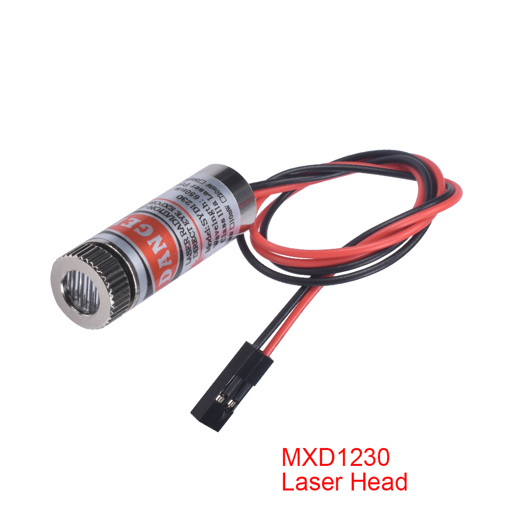 5/10PCS Ciclop Scanner Red Line Laser Module 12mm 5mw MXD1230 Point Spot Size Adjustable Laser Emission Head For 3D Printer